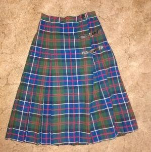 Vintage Sears plaid skirt